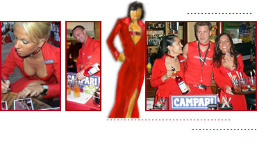 Campari Promotions-Outfit für Promotion Red Passion